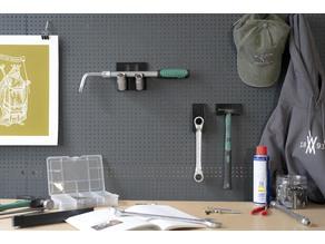 Telescopic Wheel nut Wrench Set 4 pcs. Tool Holder 015 I for screws or peg board