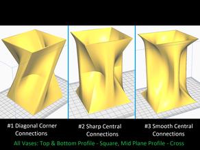 Three Geometric Vases - Collection #1