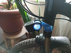Air fork flashlight adapter