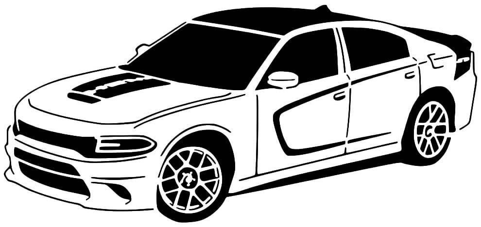 2017 Dodge Charger Daytona stencil
