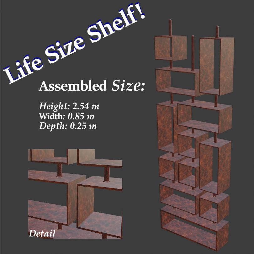Life Size Geometric Shelf
