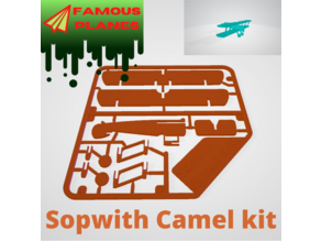 FAMOUS PLANES - Sopwith Camel kit card