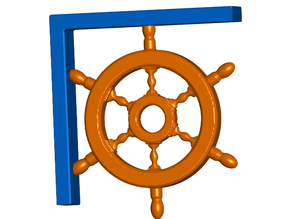 Ships Wheel Shelf Bracket (Screw or Tape Mount)