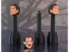 """NECA Action Figure Head Stand For 7"""" Ultimate Ash (Evil Dead 2)         ~ Necronomicon Book Of The Dead"""