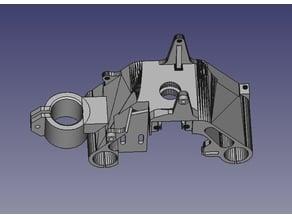Anet A6 x-carriage plus: SN04 bed level sensor mount, dremel flex arm mount, second fan