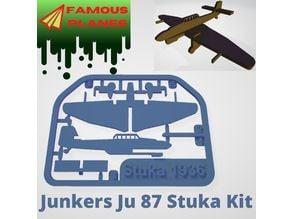 FAMOUS PLANES - Stuka Junkers Ju 87 kit card