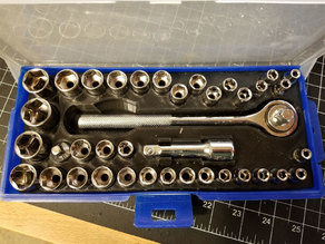 "Harbor Freight 40pc Socket Set Insert 62843 (REMIX for sets with larger 9/16"" sockets)"