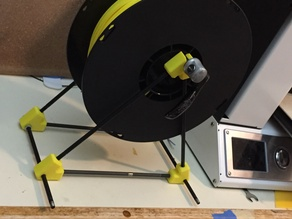 Spool Holder from bicycle hardware