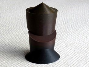 Sliced cylinder with cone