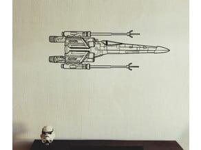 X-wing fighter 2D wall art