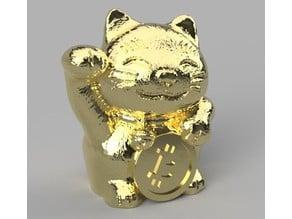 maneki-neko Bitcoin BTC Cat keychain