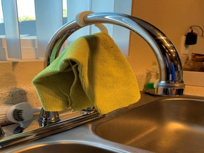 Faucet hook for drying your cleaning cloth