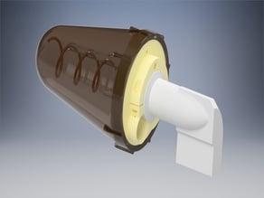 QO-100 2.4GHz - 4.5 turn Helix universal 55mm LNB horn holder