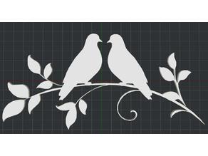 Love Birds 2D Wall Art