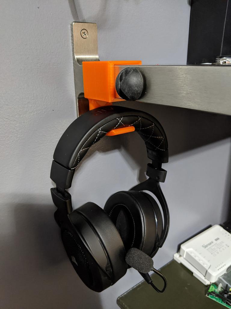Headset Hook for IKEA Granhult Shelf