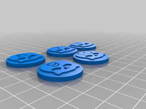Numbered Tabletop Tokens