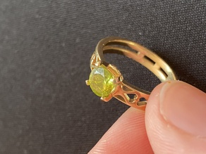 Ring with a Gem Stone Setting