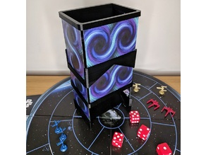 Playing card dice tower