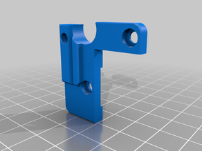 Adjustable BL-Touch sensor mount for Ender 3 and CR10 REMIX - 1mm Thicker mount