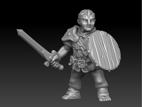 Halfling warrior