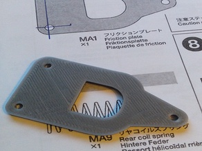 F103 Chassis / Friction Plate (MA1)
