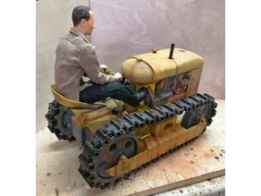 Oliver Cletrac inspired chain tractor