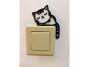 Light switch Cat two colors