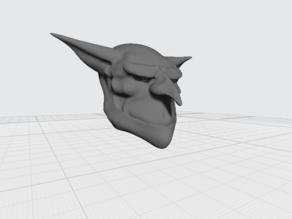 Goblin head with basic texture