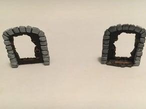 Smashed Dungeon Door - Scatter Terrain