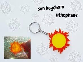 llavero litofania sol