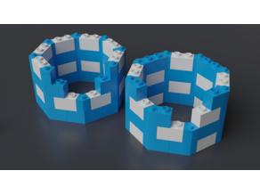 Lego compatible octogonal bricks 8