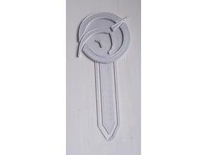Simple Silver IPU Book Mark - Invisible Pink Unicorn Shrinkenstein Bookmark