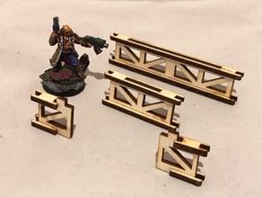 Guard rails 3mm laser cut MDF/PLY