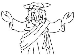 Dr Zoidberg Jesus stencil