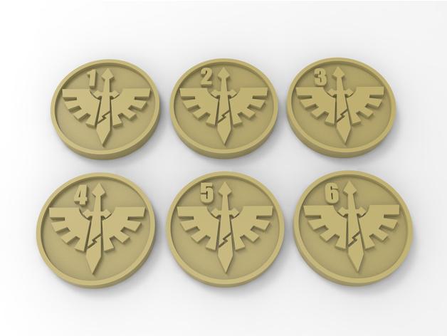 Dark Angels Warhammer 40k Objective Markers