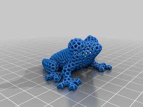 Voronoi Frog Ornament