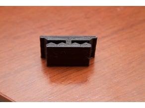 Clip doble para sistema xelentia 43 de indalum