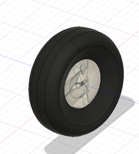 Eclipson Airplanes - Fat Grass Wheel - Model D - 3D Printed Plane