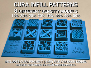 Cura Infill Patterns Display Models