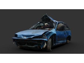 Geo Metro Wreck+warden car Gaslands
