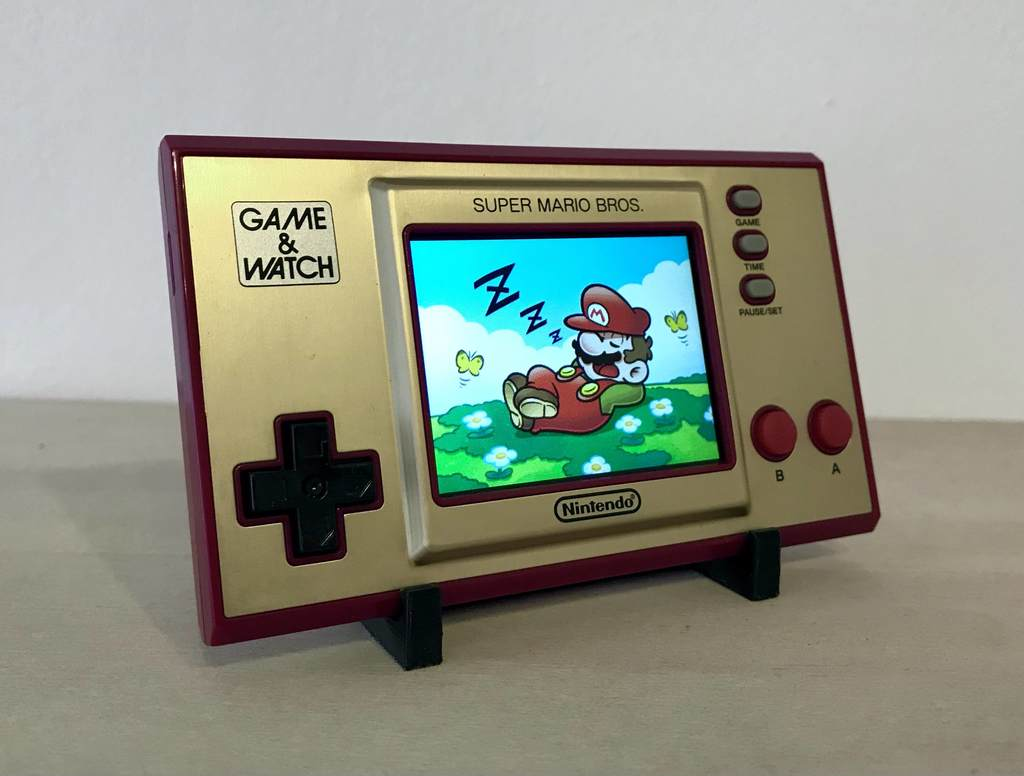 Game and Watch display stand - super mario bros