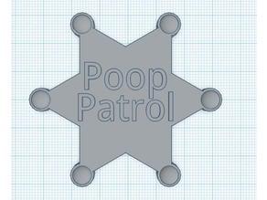 Poop Patrol Badge