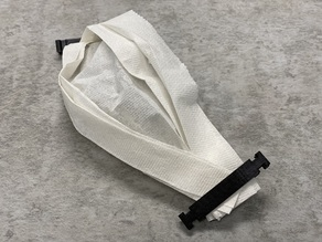 Coronavirus COVID-19 Paper Mask Clip