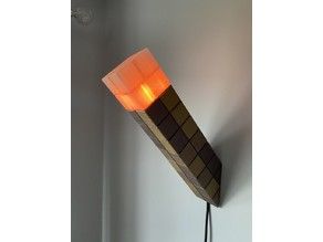 Minecraft Torch LED Pole