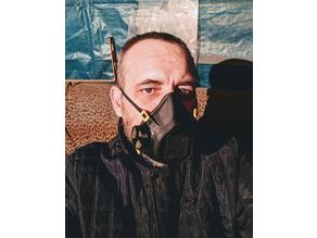 COVID-19  Mask respirator with exhalation valve