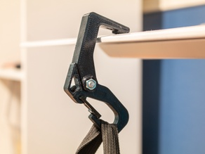 Compact Folding Backpack Hanger / Carabiner