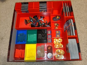 Clank! Box Insert Organizer with Upper Management & C Team Packs
