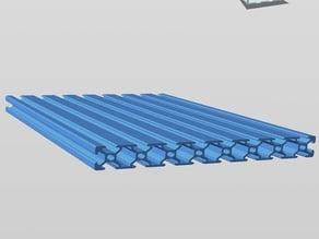 Aluminium T-Slot Extrusion - 8020 derivatives - 1-8 Slots
