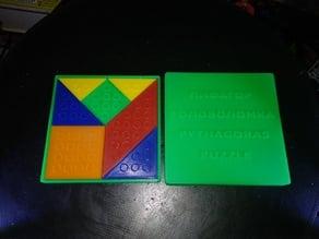 Pythagoras (resembling Tangram) game puzzle