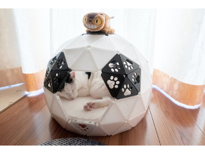 Geodesic Dome Cat House